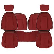 Mustang TMI Cloth Seat Upholstery - Sport Seats  - Ruby Red (1993) Hatchback