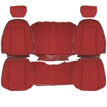 Mustang TMI Cloth Seat Upholstery - Sport Seats  - Scarlet Red (1992) Coupe