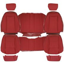 Acme Mustang Sport Seat Upholstery - Cloth  - Scarlet Red (90-91) Coupe U638-153