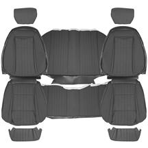 Mustang TMI Cloth Seat Upholstery - Sport Seats  - Smoke Gray (87-89) Convertible