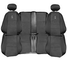 Mustang TMI Cobra Convertible Leather Seat Upholstery with Dark Charcoal Suede Inserts (03-04)