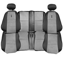 Mustang TMI Cobra Convertible Leather Seat Upholstery  with Medium Graphite Suede Inserts (03-04...