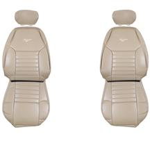 TMI Mustang Front Sport Seat Upholstery Medium Parchment Vinyl (99-04) 43-76300-7221-7221P-Y