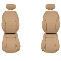 TMI Mustang Front Sport Seat Upholstery  - Saddle Tan Vinyl (94-96) 43-76304-6873