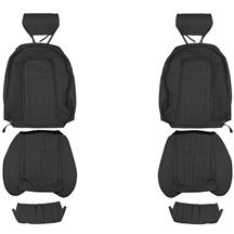 Mustang TMI Front Vinyl Seat Upholstery - Sport Seats  - Black (90-91)
