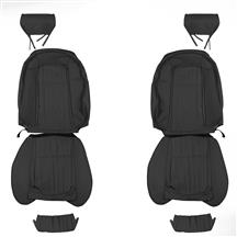 Mustang TMI Front Vinyl Seat Upholstery - Sport Seats  - Black (92-93)