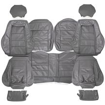Mustang TMI Leather Seat Upholstery  - Dark Gray (84-86)
