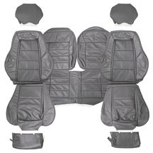 Mustang TMI Leather Seat Upholstery Dark Gray (84-86)