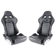 Mustang TMI Pro-Viper JR. Seat & Track Kit  - Dark Charcoal - Pair (99-04)