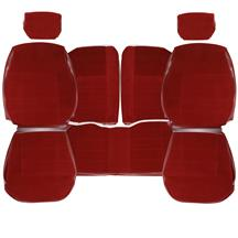 TMI Mustang Seat Upholstery  - Scarlet Red Cloth (87-89) LX Hatchback 43-75227-59-59-59