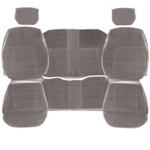 Mustang TMI Seat Upholstery  - Titanium Gray Cloth (90-92) Coupe