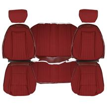 Mustang TMI Sport Seat Upholstery - Cloth Ruby Red (1993) Convertible