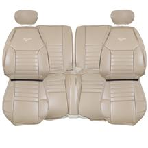 TMI Mustang Sport Seat Upholstery Leather Medium Parchment with Pony (99-04) 43-76621-L262-L262EP-Y8