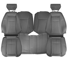 TMI Mustang Sport Seat Upholstery - Vinyl  - Opal Gray (1993) Hatchback 43-75622-6687