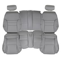 Mustang TMI Sport Seat Vinyl Upholstery Kit  - Opal Gray (94-95) Convertible