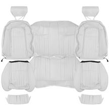 Mustang TMI Sport Seat Upholstery  - Oxford White Leather (90-91) Convertible