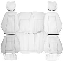 TMI Mustang Sport Seat Upholstery  - Oxford White Vinyl  (87-89) Convertible 43-74629-997