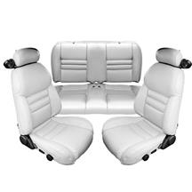 Mustang TMI Sport Seat Vinyl Upholstery Kit  - Oxford White (94-98) Convertible