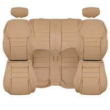 TMI Mustang Sport Seat Upholstery  - Saddle Tan - Leather (94-96) Convertible 43-77624-L261