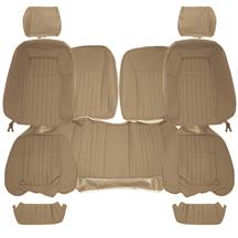 TMI Mustang Sport Seat Upholstery  - Sand Beige Cloth (87-89) Hatchback 43-75628-973-74