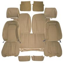 Mustang TMI Sport Seat Upholstery Sand Beige Cloth (87-89) Hatchback
