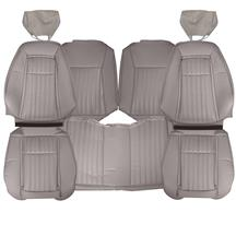Mustang TMI Sport Seat Upholstery  - Titanium Gray Leather (1992) Hatchback