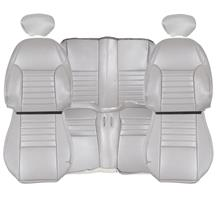 TMI Mustang Sport Seat Vinyl Upholstery Kit  - Medium Graphite w/Pony (99-04) Convertible 43-77320-6890-6890EP-Y3
