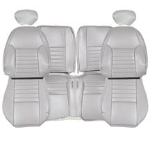 TMI Mustang Sport Seat Vinyl Upholstery Kit  - Medium Graphite w/Pony (99-04) Coupe 43-7632-6890-6890EP-Y3