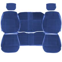 TMI Mustang Standard Seat Upholstery  - Regatta Blue Cloth (84-89) Coupe 43-73227-55-55-55