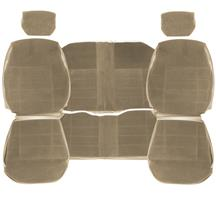 TMI Mustang Standard Seat Upholstery  - Sand Beige Cloth (84-89) Coupe 43-73227-54-54-54