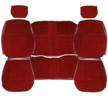 TMI Mustang Standard Seat Upholstery  - Scarlet Red Cloth (87-89) Coupe 43-73227-59-59-59