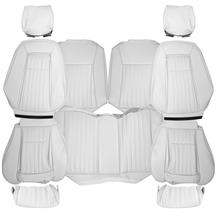 TMI Mustang Vinyl Seat Upholstery - Sport Seats  - Oxford White (87-89) Hatchback 43-75629-997