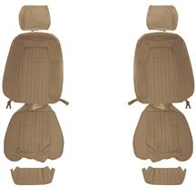 Mustang Acme Cloth Front Seat Upholstery - Sport Seats  - Sand Beige (87-89)