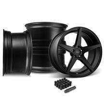 Mustang Velgen Classic5 Wheel Kit - 20x9/10.5  - Satin Black (05-14)