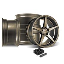 Mustang Velgen Classic5 Wheel Kit - 19x8.5/10  - Satin Bronze (15-18)