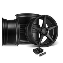 Mustang Velgen Classic5 Wheel Kit - 19x8.5/10  - Satin Black (15-18)