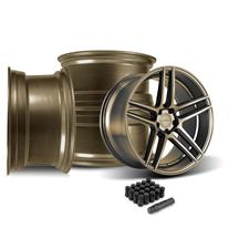 Mustang Velgen Split5 Wheel Kit - 20x9/10.5  - Satin Bronze (15-19)