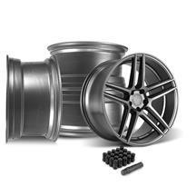 Mustang Velgen Split5 Wheel Kit - 20x9/10.5  - Matte Gunmetal (15-19)