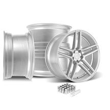 Mustang Velgen Split5 Wheel Kit - 20x9/10.5  - Matte Silver (15-19)