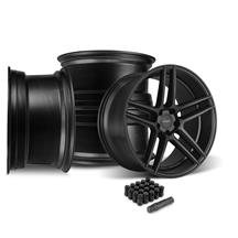 Mustang Velgen Split5 Wheel Kit - 20x9/10.5  - Satin Black (15-18)