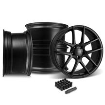 Mustang Velgen VMB5 Wheel & Lug Kit 20x9/10.5  - Satin Black (05-14)