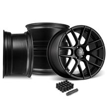 Mustang Velgen VMB7 20x9/10.5 Wheel Kit  - Satin Black (05-14)