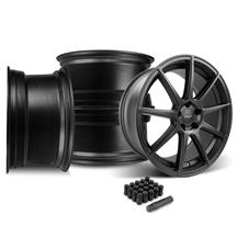 Mustang Velgen VMB9 Wheel & Lug Nut Kit - 20x9/10.5 Satin Black (15-17)