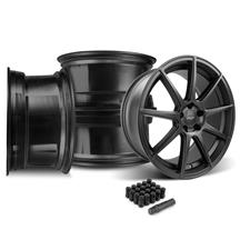 Mustang Velgen VMB9 Wheel & Lug Nut Kit - 20x9/10.5 Satin Black (05-14)