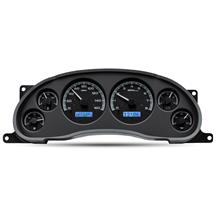 Mustang Dakota Digital VHX Digital Instrument Cluster  - Black Alloy, Blue Backlighting (94-04)