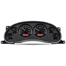 Mustang Dakota Digital VHX Digital Instrument Cluster  - Black Alloy, Red Backlighting (94-04)