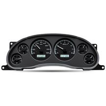Mustang Dakota Digital VHX Digital Instrument Cluster  - Black Alloy, White Backlighting (94-04)