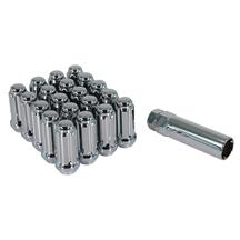 Mustang Long Shank Spline Drive Lug Nut Kit  - Chrome (79-93)