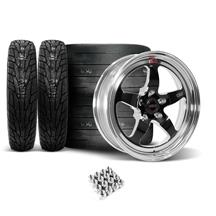 Mustang Weld RT-S Wheel & Tire Kit - 17x5/17x10 Black (05-14)