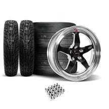 Mustang Weld RT-S Wheel & Tire Kit - 18x5/17x10 Black (05-14)